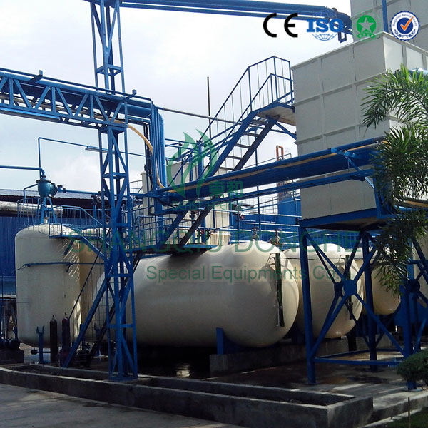 10 tons per day capacity high oil yield waste oil distillation machine with CE ISO
