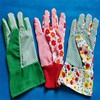 Colorful PVC dotted women gloves for work garden gloves