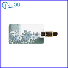Popular PVC Luggage Tag for travel business promotion with customized logo