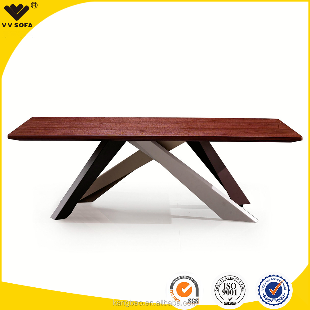 Italian design new dining table sets long size table for Latest wooden dining table designs