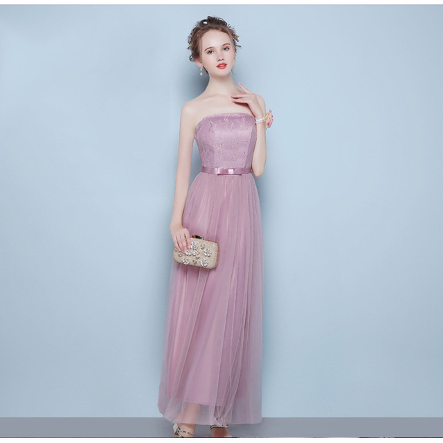 2017 alibaba hot sale ladies formal sexy off shouler tube peach convertible bridesmaid custom dress