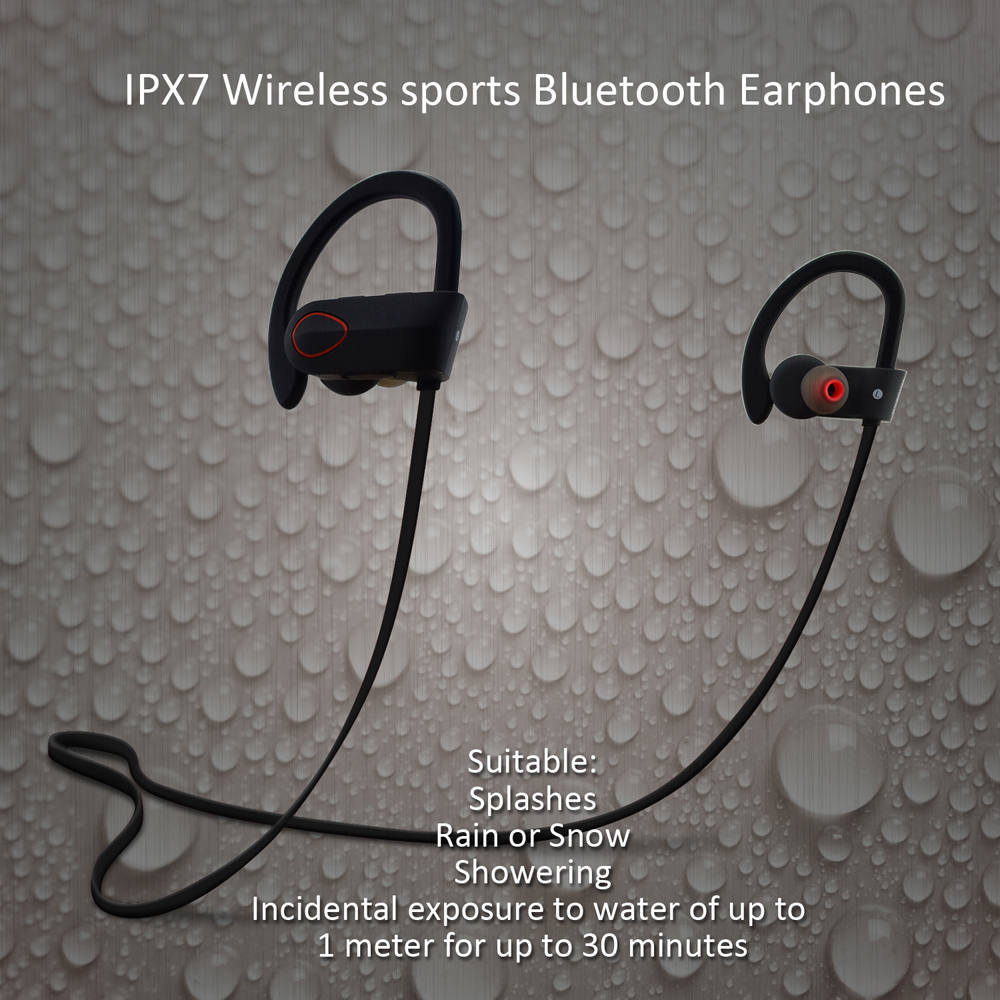 2016 Hot Sell V4.1 Bluetooth Wireless Sport Earbuds Blutooth Headset/Headphone RU9 With IPX7 Waterproof