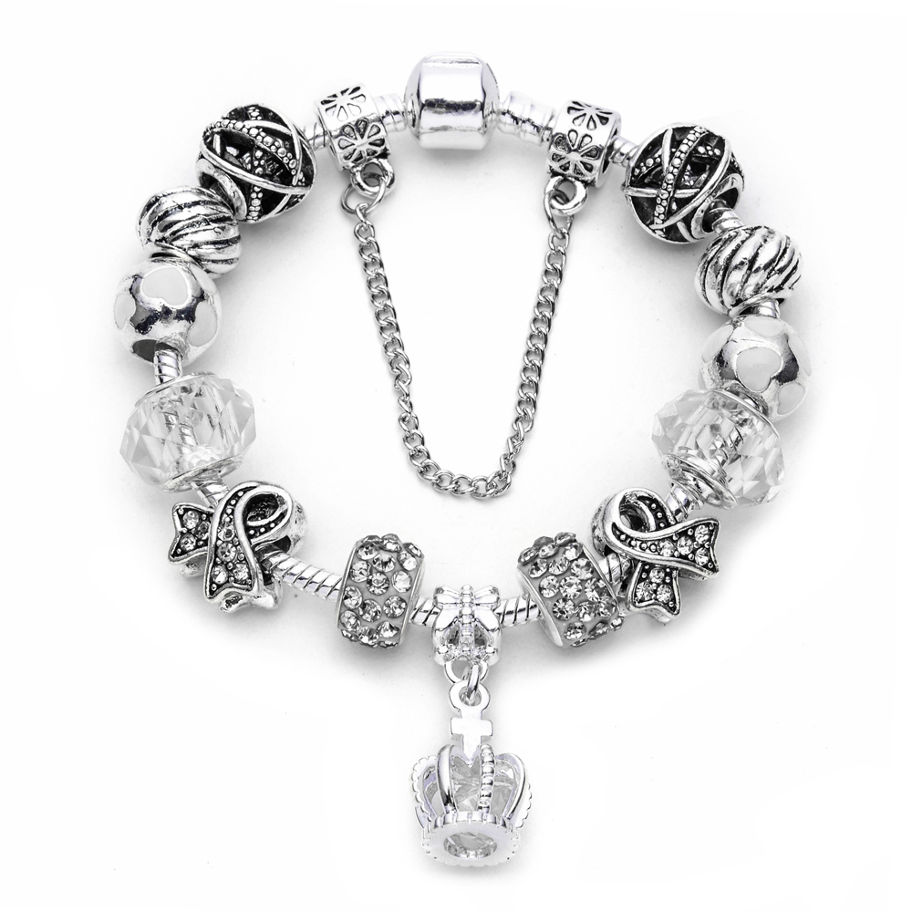 Wholesale crown designs jewelry online buy best crown designs wholesale crystal strongcrownstrong pendant silver charm bracelet beads for mozeypictures Gallery