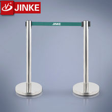 Factory Direct Sale Anti-Crossion Bollards Retractable Queue Stand with Board Sign Car Parking Fence Barrier