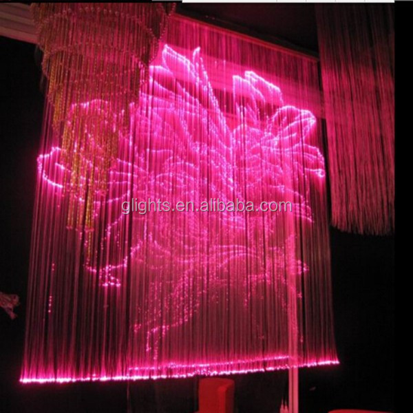 led fiber optical curtain lights with decoration for the bedroom