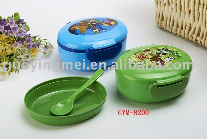 plastic lunch box handle &compartment,student bento lunch box(walmart audtied factory)