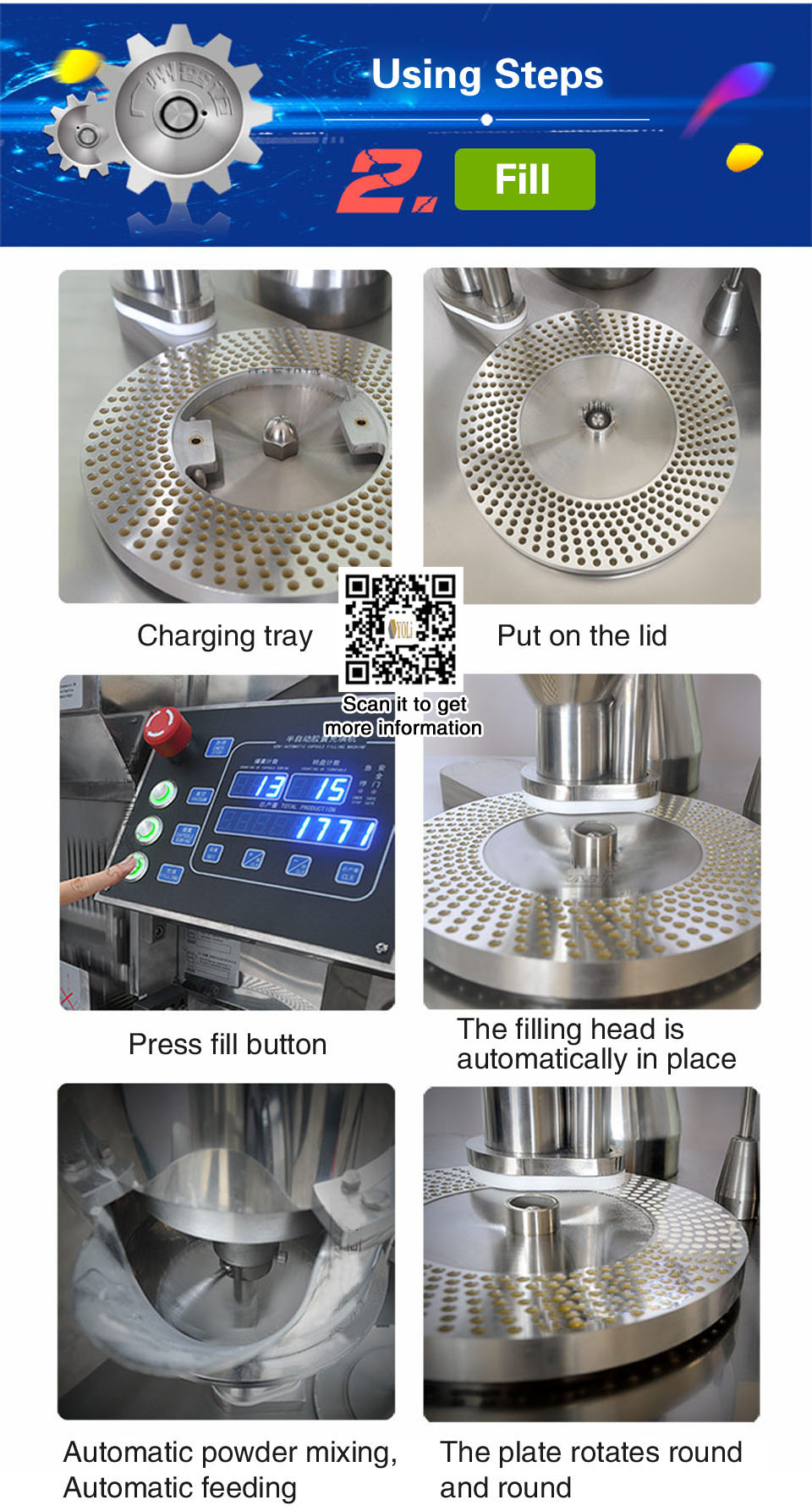 yoli JTJ-V semi-automatic capsule filling filler machine Import technology export quality healthy capsule filling machine