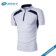 Customized Mens Zip Placket Raglan Sleeve 100% Polyester Sublimated PK Polo Shirt