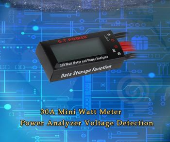 911114-30A Mini Watt Meter Power Analyzer Voltage Detection for RC Aircraft Helicopter Car