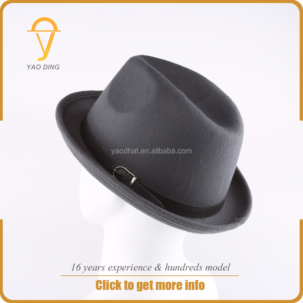 China manufaturer free sample woolly hat felt custom man women black fedora hats