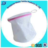 OEM manufacturer 100% polyester sandwich mesh folding bra laundry bag for washing machine
