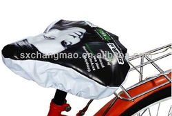 polyester black waterproof bike seat cover