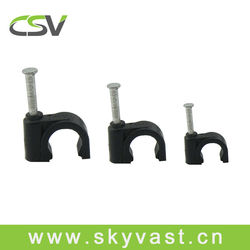 black 8mm wire holding clips