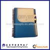 Plastic cover notebook spiral notebook with pen