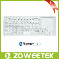 Bluetooth computer keyboards with touchpad & backlit for tablet pc