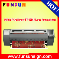 Infiniti / Challenger FY-3286J 3.2m solvent flex banner printing machine with 6pcs SPT508GS heads factory price
