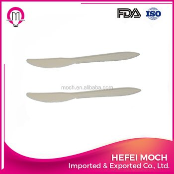corn starch biodegradable disposable cutlery/ Spoon fork knife/Plastic utensils