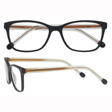 Famous brands fashion eyeglass eyewear with clear temple glasses frame