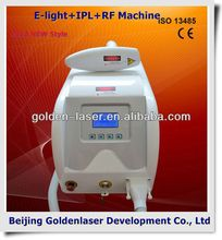 2013 laser tattoo removal slimming machine cavitation E-light+IPL+RF machine kingdom beauty hair equipments