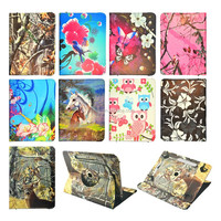 High Quality 360 rotation Printed Universal Tablet Leather Case For Asus 7 inch 8inch 9inch 10inch