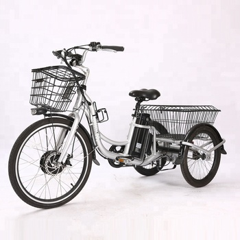 CE 20inches aluminum adults electric tricycle for cargo