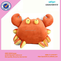 super comfortable plush orange crab Toy animal cushion for office and home
