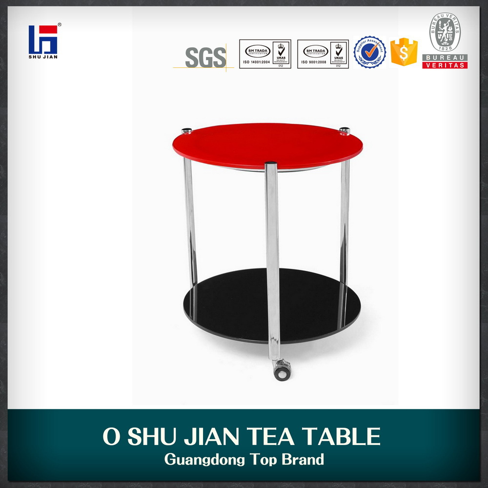 double layer glass coffee table tea table