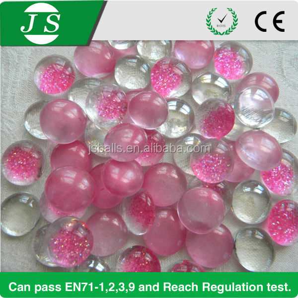 beautiful pink glass pebbles for vase fillers