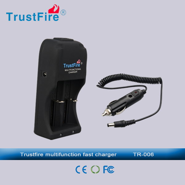 Top selling gadgets TrustFire TR-006 portable dual car charger,universal charger for rechargeable battery with cord charger plug