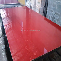 Morden Trend Style Red Color Kitchen Cabinet with UV, Acrylic Surface Finished for Morden House