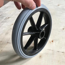 Hot sale high quality gray 7 inch solid wheelchair wheel wholesale
