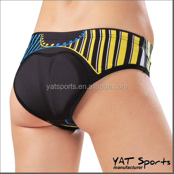 with Gel pads cycling wear design Custom sexy Lycra ladies cycling underwear
