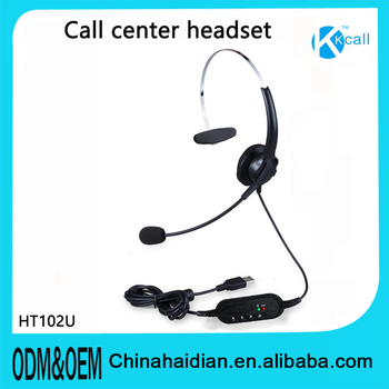 call center usb headset for call center or customer services and skype&computer