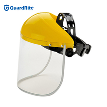 PC industrial safety face shield mask with clear visor