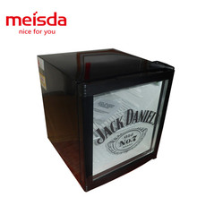 Top quality commercial beverage table top glass door mini fridge with lock and key