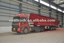 3 axles high side dump semi-trailer