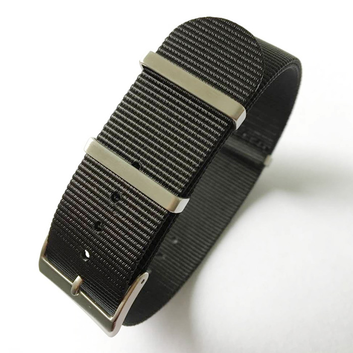 Wholesale Brushed Watch Hardware Manual <strong>G10</strong> Black NATO Strap