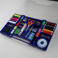 AHousehold circular creative box saewing kit,scissors,snap fasteners,tape measure,thimble,su core wire,gear line,elastic