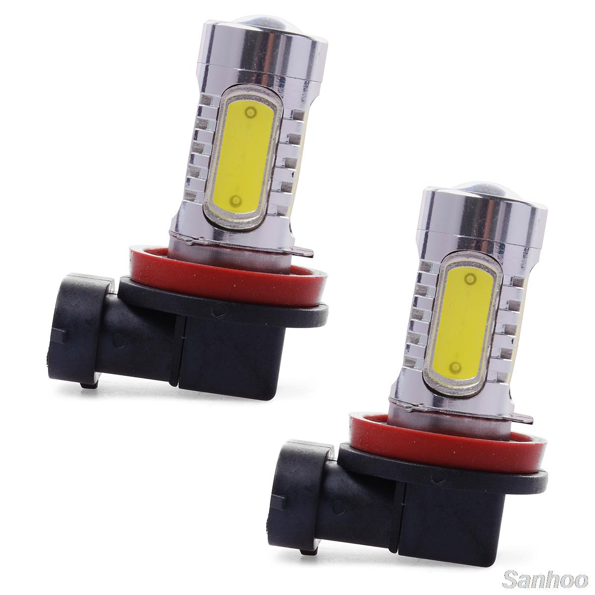 H11 7.5W High Power COB LED Bulb Car Auto Light  Daytime Drive Source Projector DRL Driving Fog Headlight Lamp Xenon White DC12V