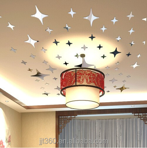2017 hot sell !Crystal star shaped ps wall mirror