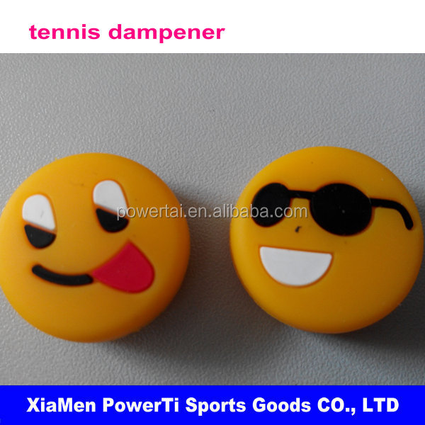 Funny Silicone Rubber Smile Smiling Face Shock Vibration Dampeners Absorber for Sports Tennis Racket