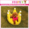 crown shape plush dog cushion luxury princess dog bed