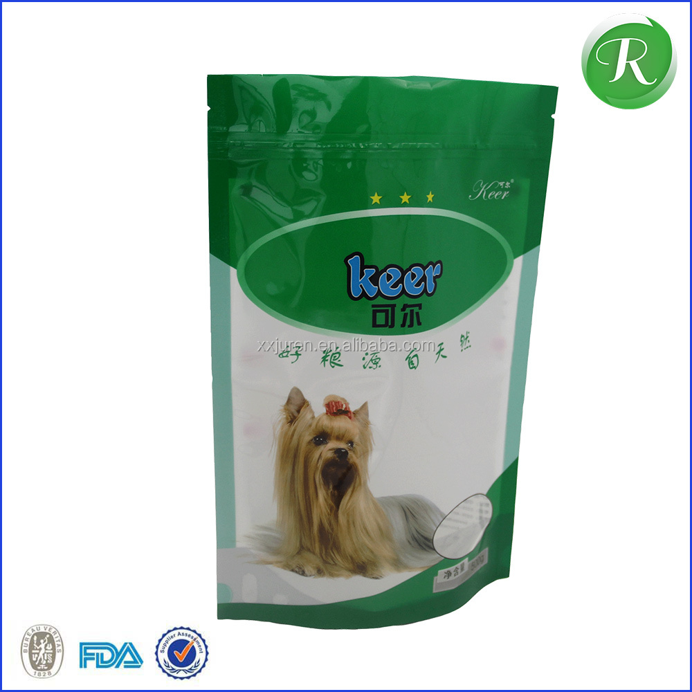 plastic dog treat stand up bags with zipper/aluminum foil 150g dog food stand up zipper bag