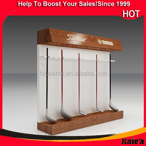 Retail golf club display rack for glof cube rack design
