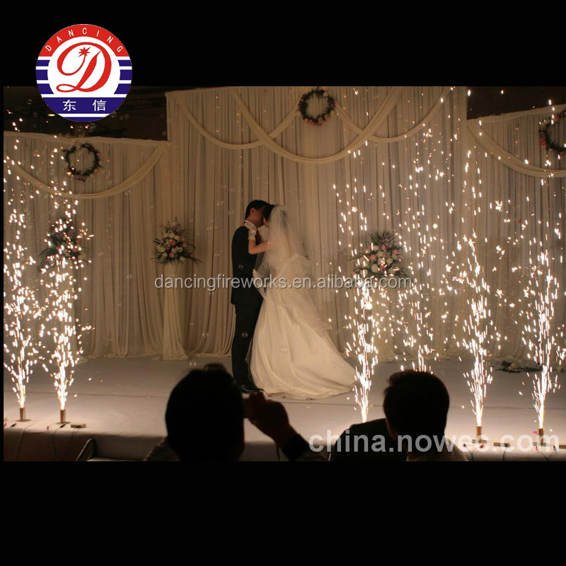 Cold stage indoor wedding fountain fireworks