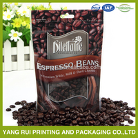 Stand up food pouch paper packaging bag for coffee biodegradable plastic bag