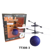 The Christmas best gift Mini Flying RC Ball Flashing Light Aircraft Helicopter To children
