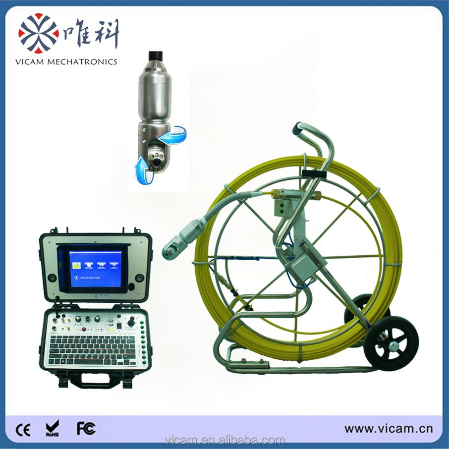 New type 120m cable waterproof pipe inspection camera with meter counter