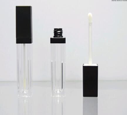 thick wall square lip gloss bottle italian cosmetic brands