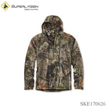 Midweight Quarter-Zip Hoodie Hard Shell Fleece Jacket